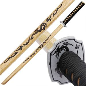 Dragon Ninja Warrior Natural Wood Bokken 40""