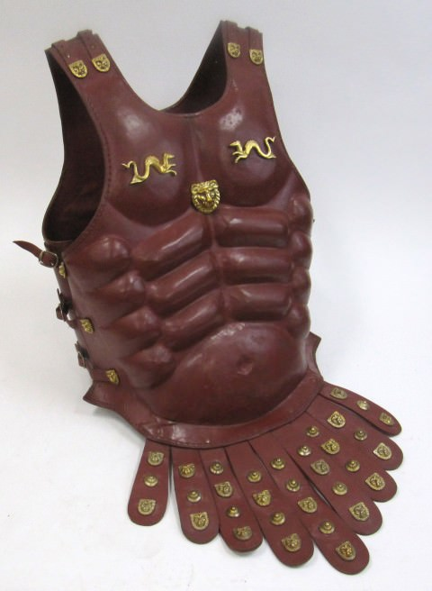 Leather Muscle Armor with Brass accents and skirt Subarmalis