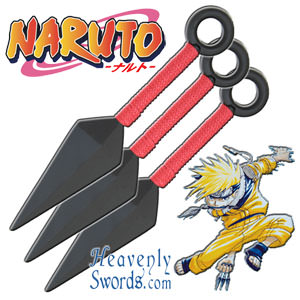 Naruto - Kunai Throwing Knife Set - Wooden