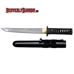 Ryumon - Damascus Dragon Tanto - Black 17&quot;