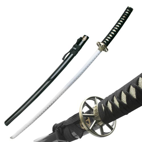 Traditional Black Samurai Sword and Scabbard 41""