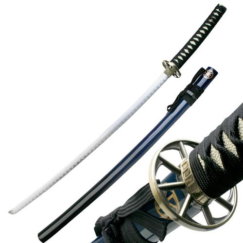 Traditional Samurai Sword and Scabbard Blue Color 2 Tone 41""