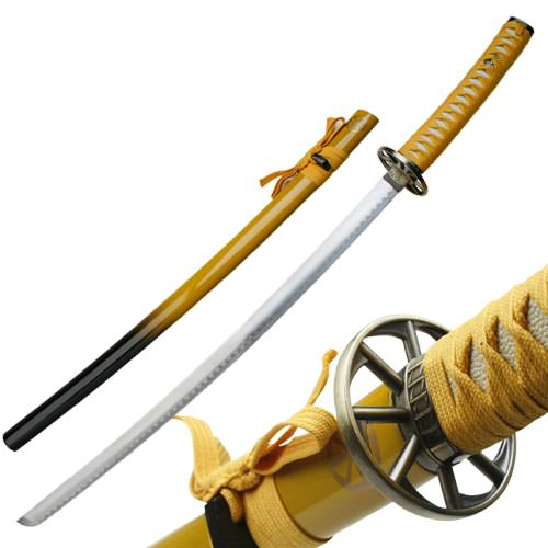 Traditional 2 Tone Samurai Sword and Scabbard Gold 41""