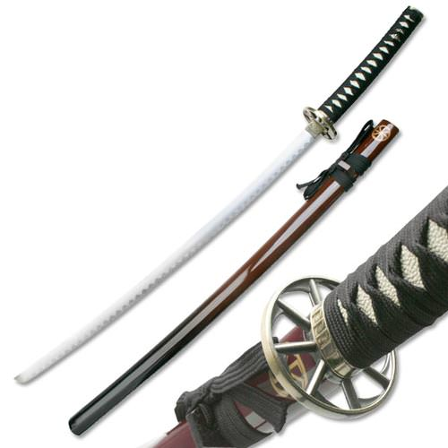 Traditional 2 Tone Samurai Sword Burgandy Brown 41""