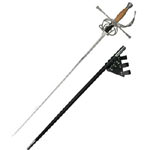 "Clascic Wood Grip Rapier Sword 45"" with Frog"
