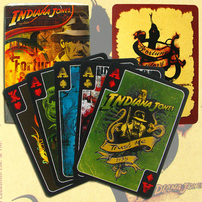 Indiana Jones Urban Art Playing Cards - One Deck
