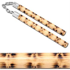Rattan Wood Chucks Nunchaku 12""