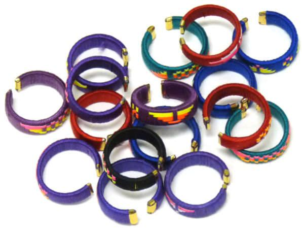 12- Assorted Hand Made Rings 98416