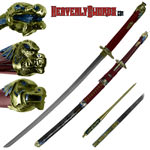Gold Spiral Dragon Katana