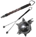 Dual Ball Medieval Spike Mace 33""