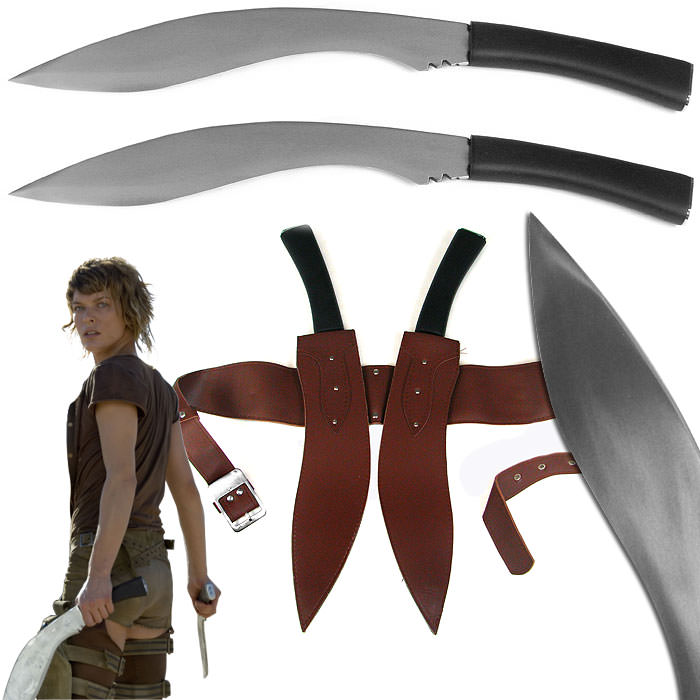 Resident Evil Double Kukri Sword Set with Sheath 20 1/2""