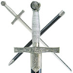 """Medieval Dragon Slayer Sword w/ Hard Scabbard - Wire Wrapped Handle 39"""""""