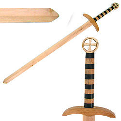Medieval Crusader Wooden Waster Sword