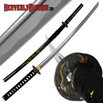 Gold Dragon Tsuba and Scabbard Katana - 40 inch