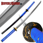Blue Dragon Tsuba and Scabbard Katana