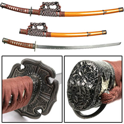 Gold Jintachi Japanese Samurai Swords Series - 39""