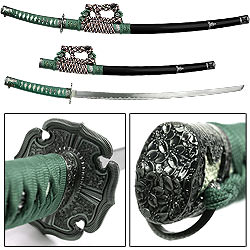 Green Jintachi Japanese Samurai Swords Series 39""