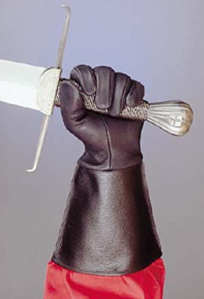 Black Leather Gauntlets Gloves