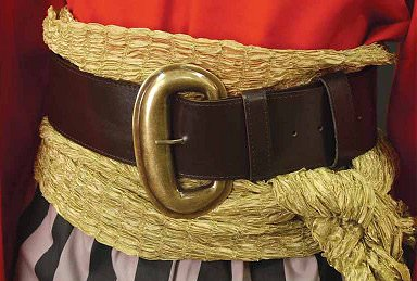 Wide Pirate Belt and Buckle
