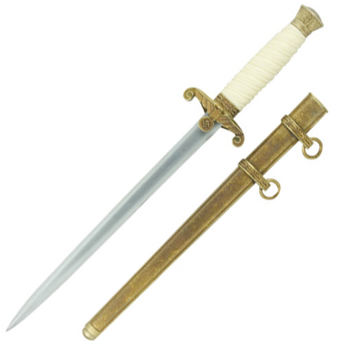 Wehrmacht Officer's Dagger Antique gold finish