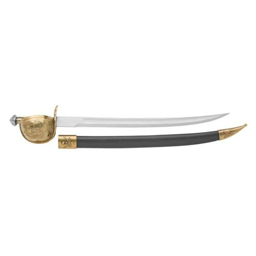 Replica Pirate Brass Trim Cutlass And Scabbard