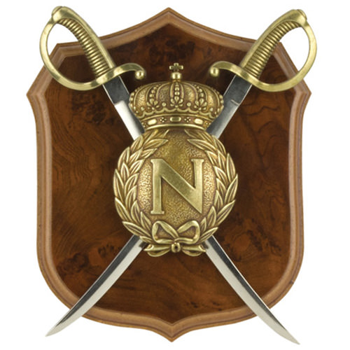 Napoleonic Shield & Letter Opener Sabers 10""