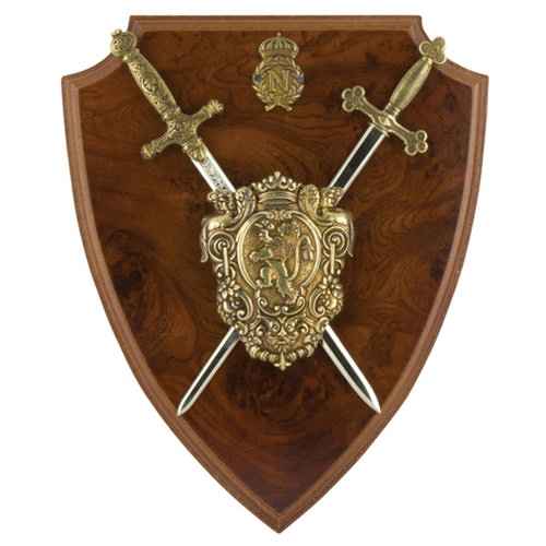 Napoleonic Shield & Letter Opener Swords 10""