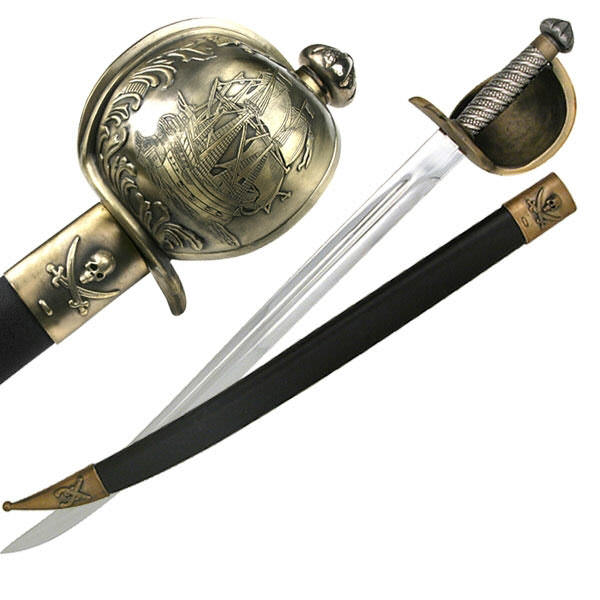 28 In Pirate Sword & Scabbard KS4913