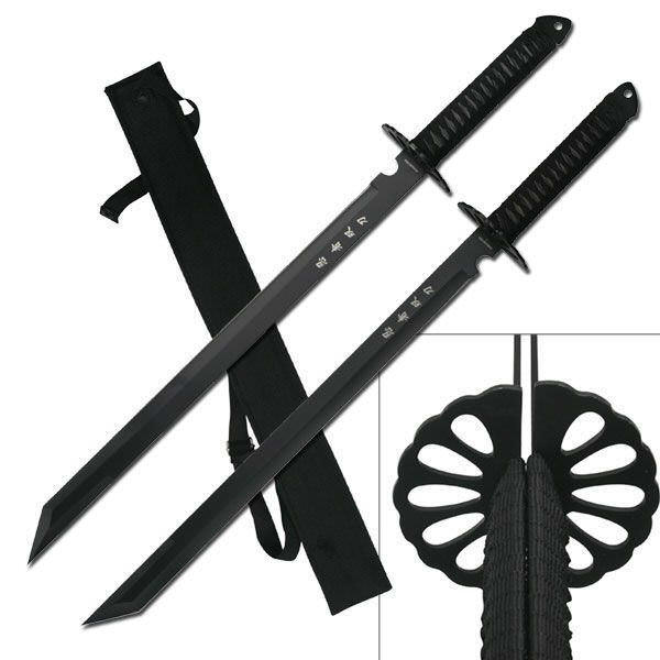 2 Pc Ninja Sword Set & Scabbard HK6183-275BK