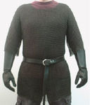 "Blackened Steel Chain Mail Armor 16 gauge -54"" chest"