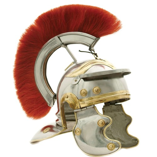 Deluxe Roman Centurion Helmet with Red Plume