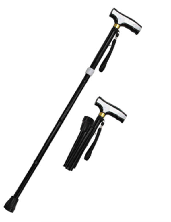 36 in Black Folding / Adjustable Alumminum Walking Cane WS2110BK