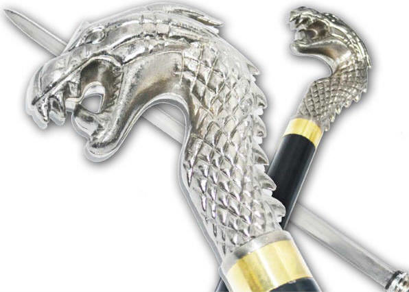 36 in Dragon Head Sword Cane PK301