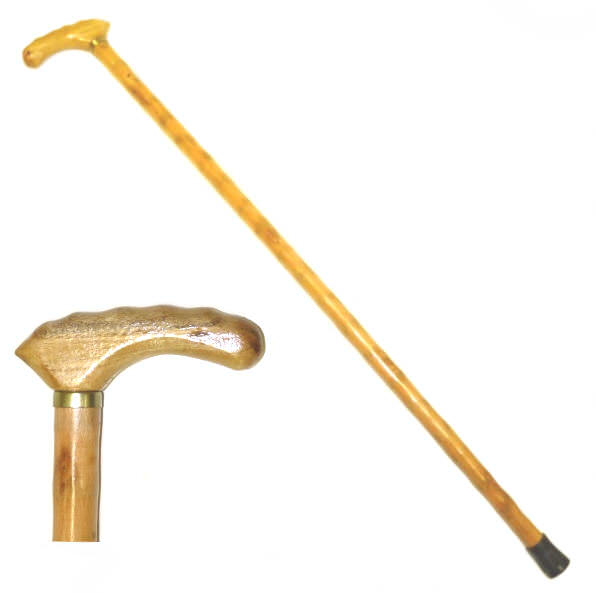 36 in Fritz Handle Wooden Walking Cane WS7612