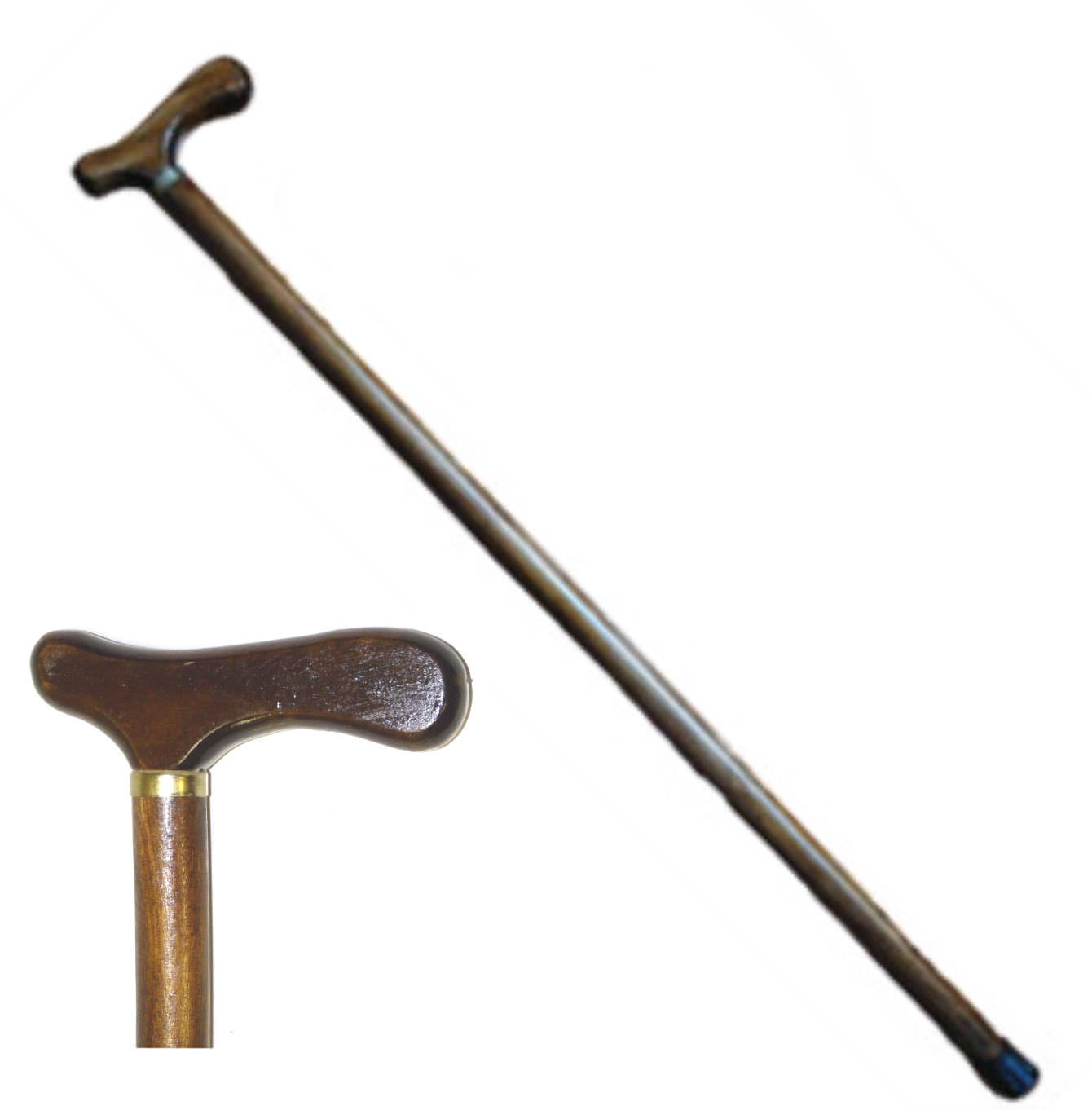 36 in Fritz Handle Wooden Walking Cane WS7699