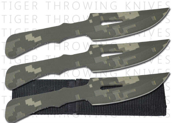 3 Pc Digital Camo Throwing Knife Set PA0194S3CM1