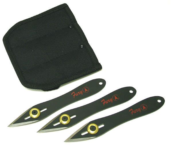 3 Pc Set of Adjustable Weight Throwing Knifes 90010