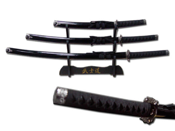 3pc Set Samurai Sword Set C29152-BK4