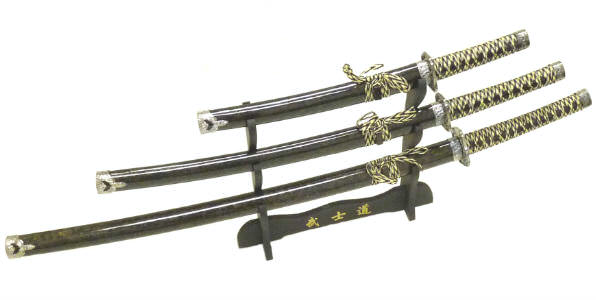 3pc Set Samurai Sword Set C29152-BR4