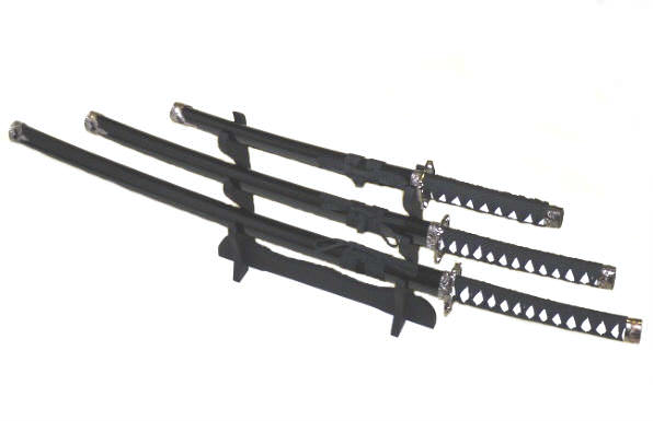 3pc Set Samurai Sword Set K0021-4BK