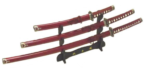 3pc Set Samurai Sword Set K0021-4ROLS