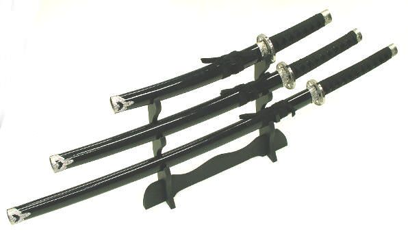3pc Set Samurai Sword Set K25- 4BK