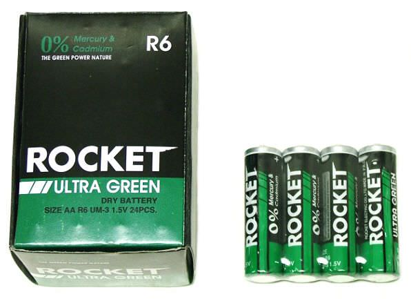 4 AA Batteries ULTRA GREEN BT-AArocket