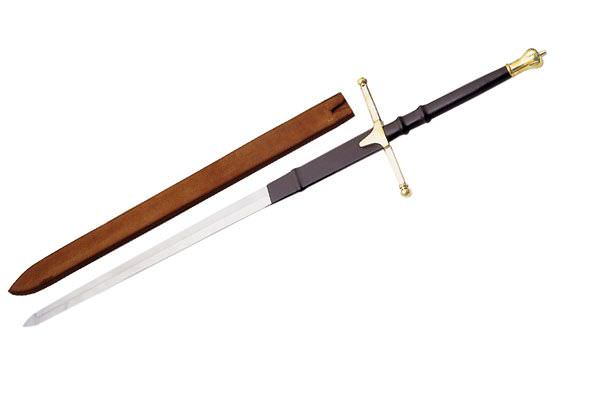 53in Gold Finish Braveheart Sword 901064BS