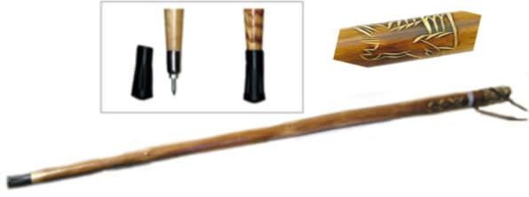 55in Eagle Wooden Walking / Hiking Stick WS628-55E