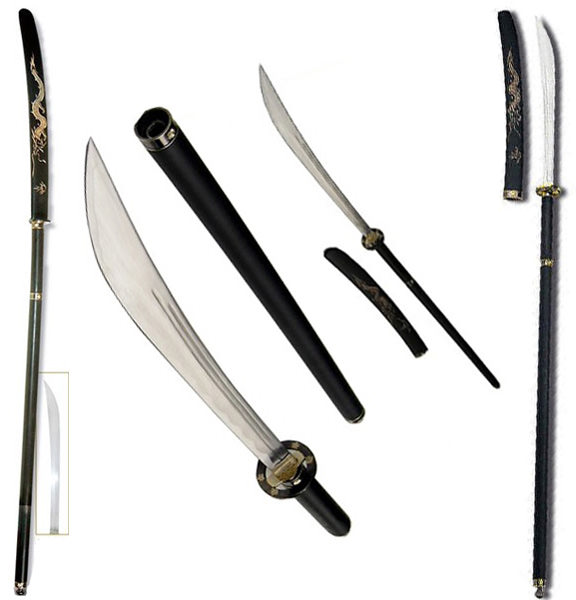 64in Japanese Naginata Sword Dragon SK05