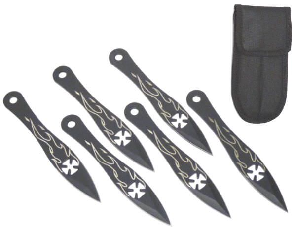 6 Pc Chopper Throwing Knife Set A1030F