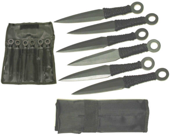 6 Pc Fantasy Throwing Knife Set TK868BK