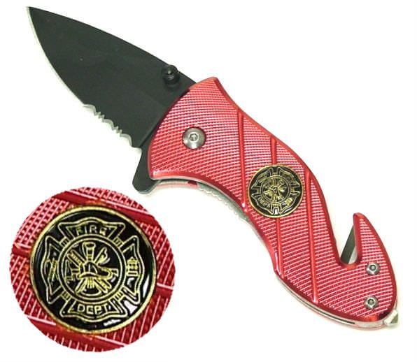 6in AO Fire Fighter Rescue Knife YC8367SRD