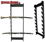 Eight Piece Sword Wall Rack